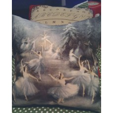 Childrens Cushion - Swan Lake size 20x20cm
