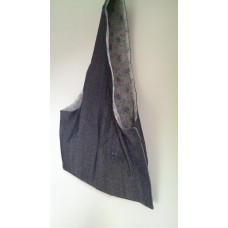 Reversible Denim and Cotton Nappy Bag with pockets